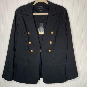 Lane Bryant black blazer jacket size 18 NWT